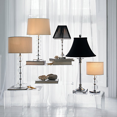 Buy John Lewis 6 Squares Crystal Glass Lamp Base Online at johnlewis.com