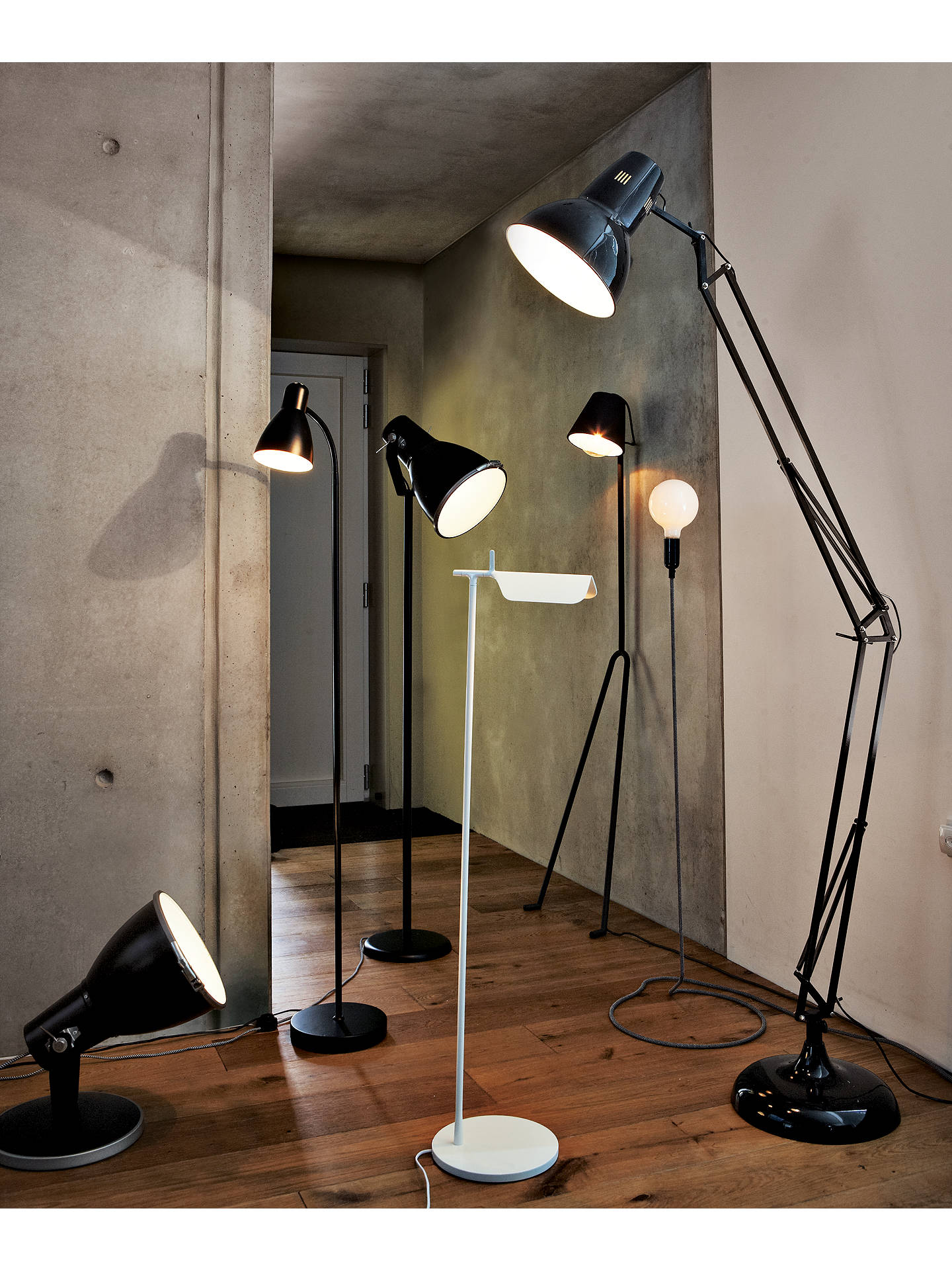 BuyHouse by John Lewis Brandon Floor Lamp, Black Online at johnlewis.com