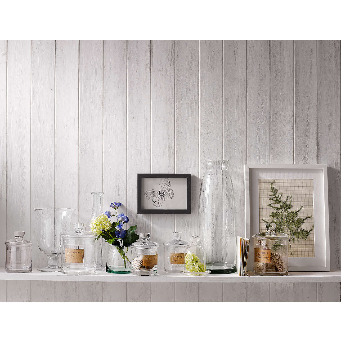 BuyCroft Collection Glass Container, Small, Clear Online at johnlewis.com