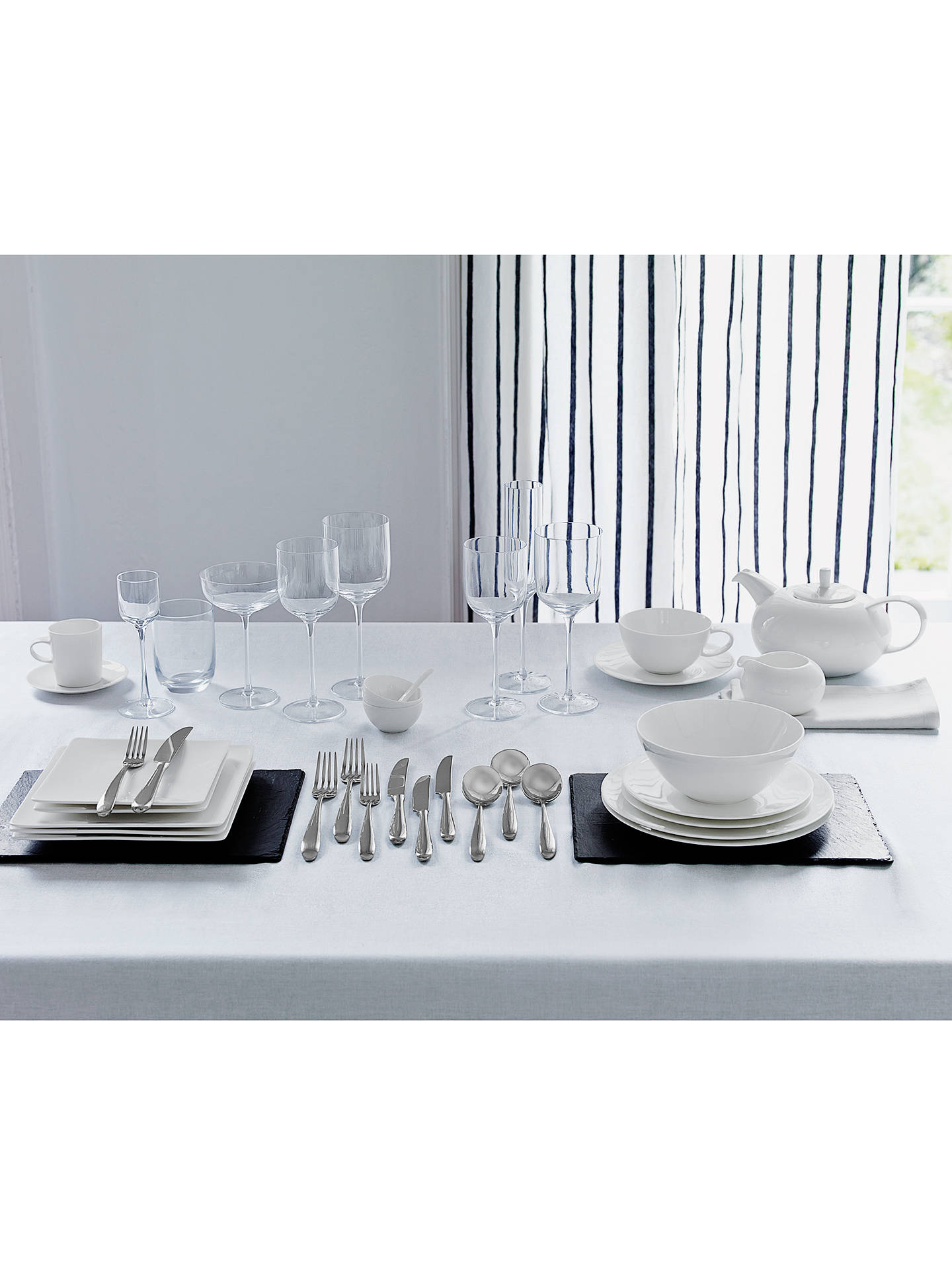 BuyJust Slate Placemats, Set of 2, Dark Grey Online at johnlewis.com