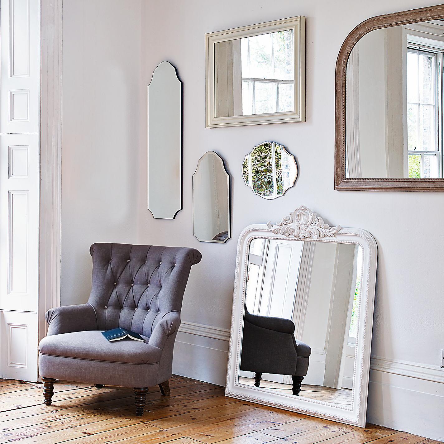 John Lewis Living Room Buy John Lewis Distressed Mirror Cream 102 X 72cm John Lewis