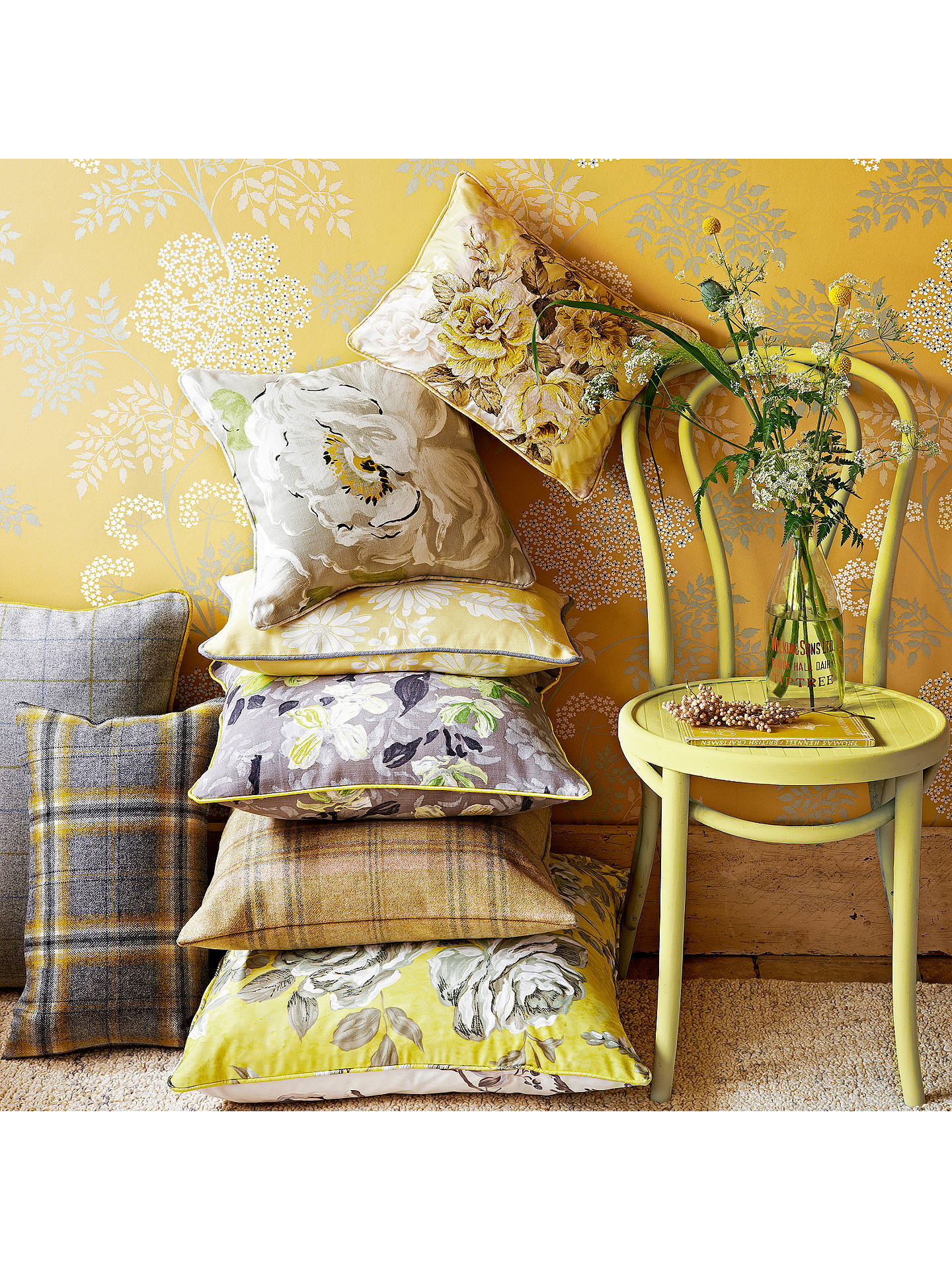 Buy Sanderson Cow Parsley Wallpaper, DOPWCO105, Chinese Yellow Online at johnlewis.com
