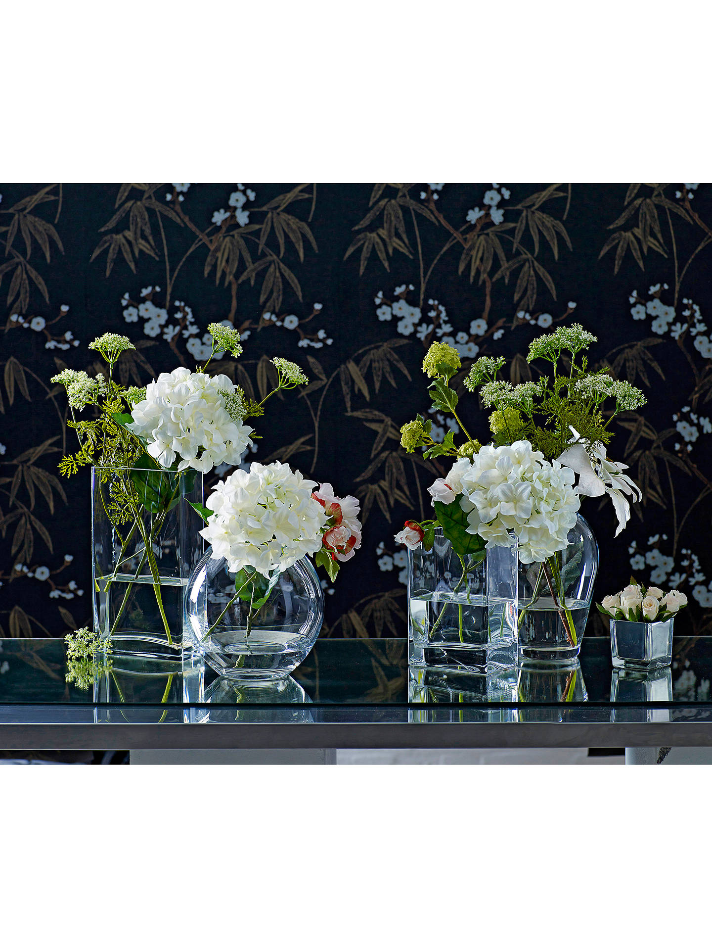 BuyLSA International Flower Rectangular Bunch Vase, Clear, H32cm Online at johnlewis.com