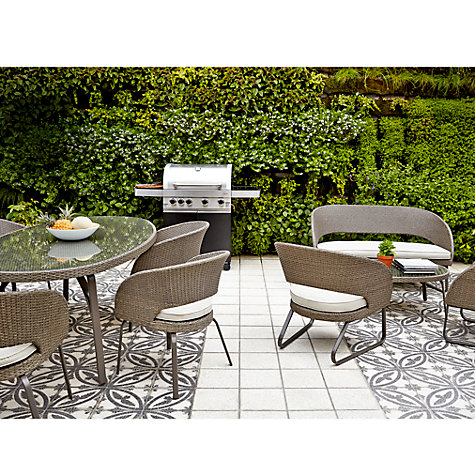 Buy John Lewis Corsica 6 Seater Round Outdoor Dining Table Online at johnlewis.com