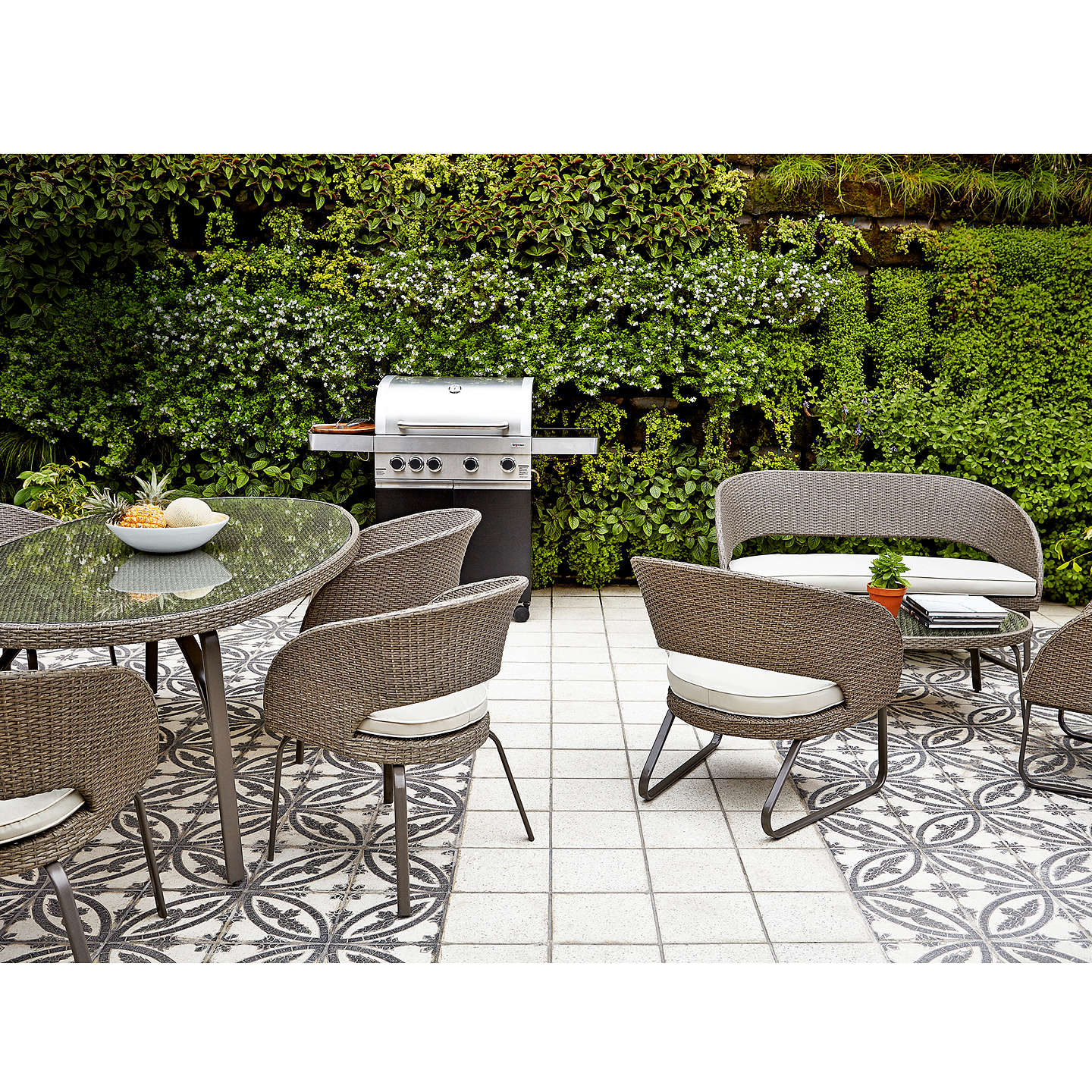 BuyJohn Lewis Corsica 6 Seater Round Garden Dining Table Online at johnlewis.com