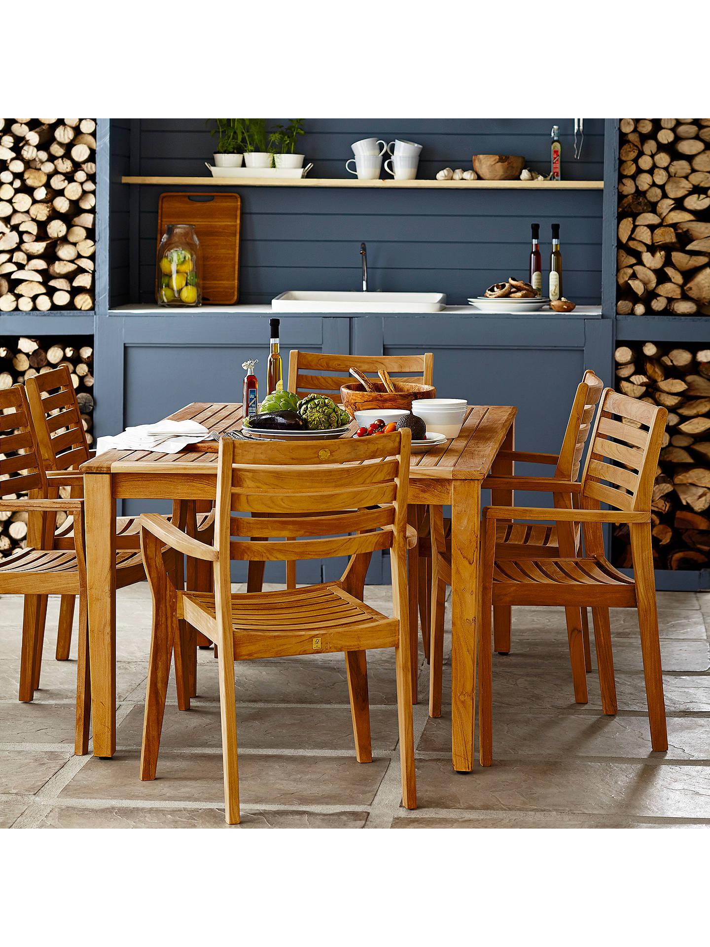 John Lewis Longstock Rectangle Garden Dining Table Amp 6