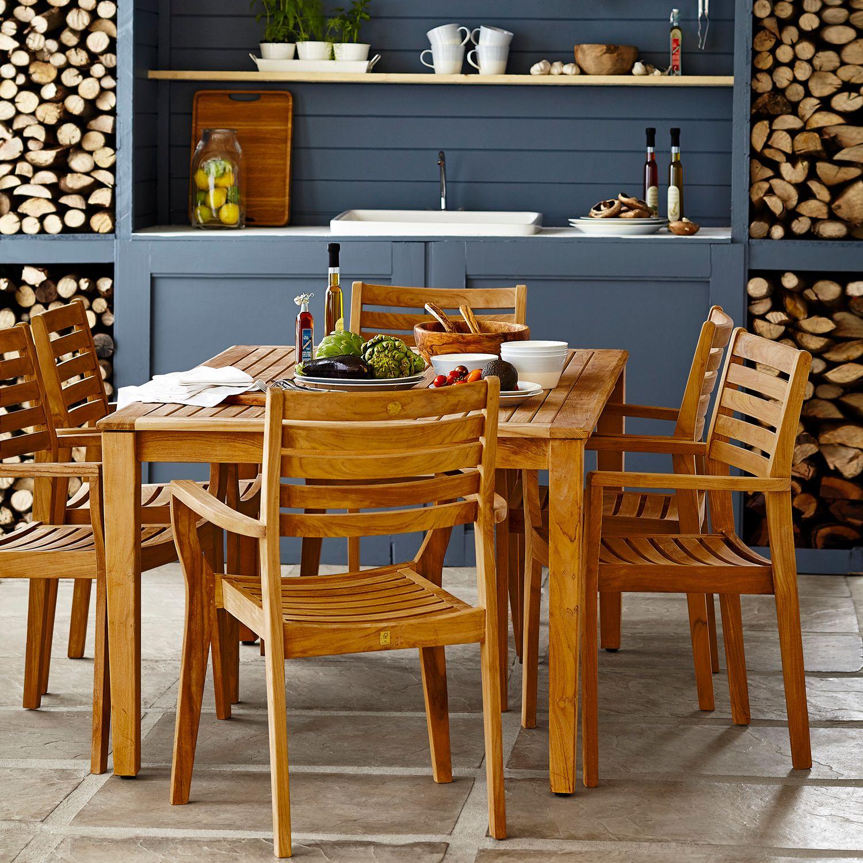 John Lewis Longstock Rectangle Garden Dining Table 6