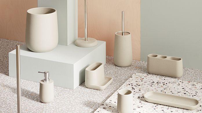 Bathroom Accessories | Bin, Toothbrush Holder, Soap Dish