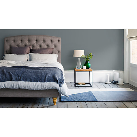 Buy John Lewis Rouen Fabric Covered Bed Frame, King Size, Grey Online at johnlewis.com