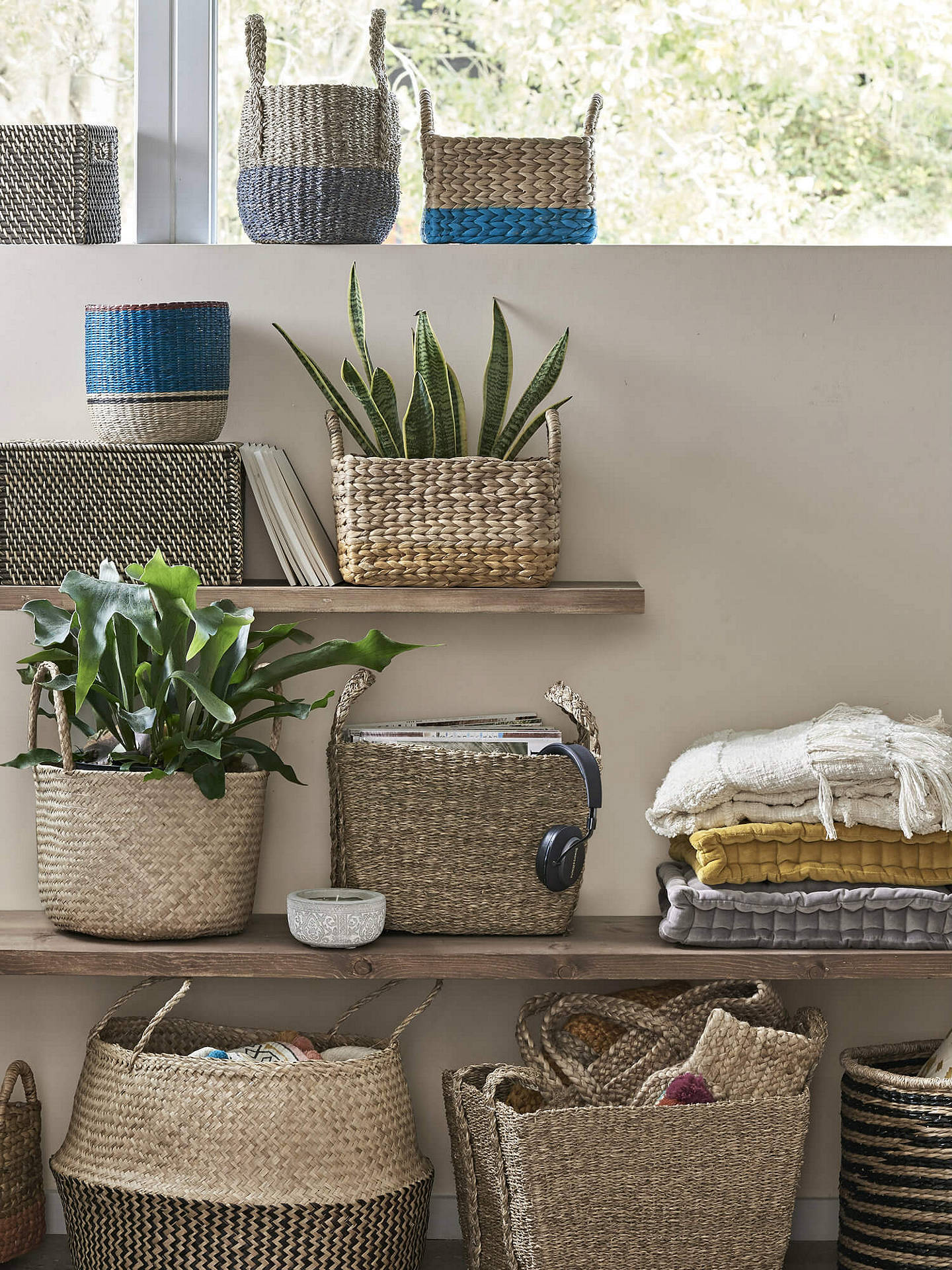 BuyJohn Lewis & Partners Fusion Natural Seagrass Basket Online at johnlewis.com