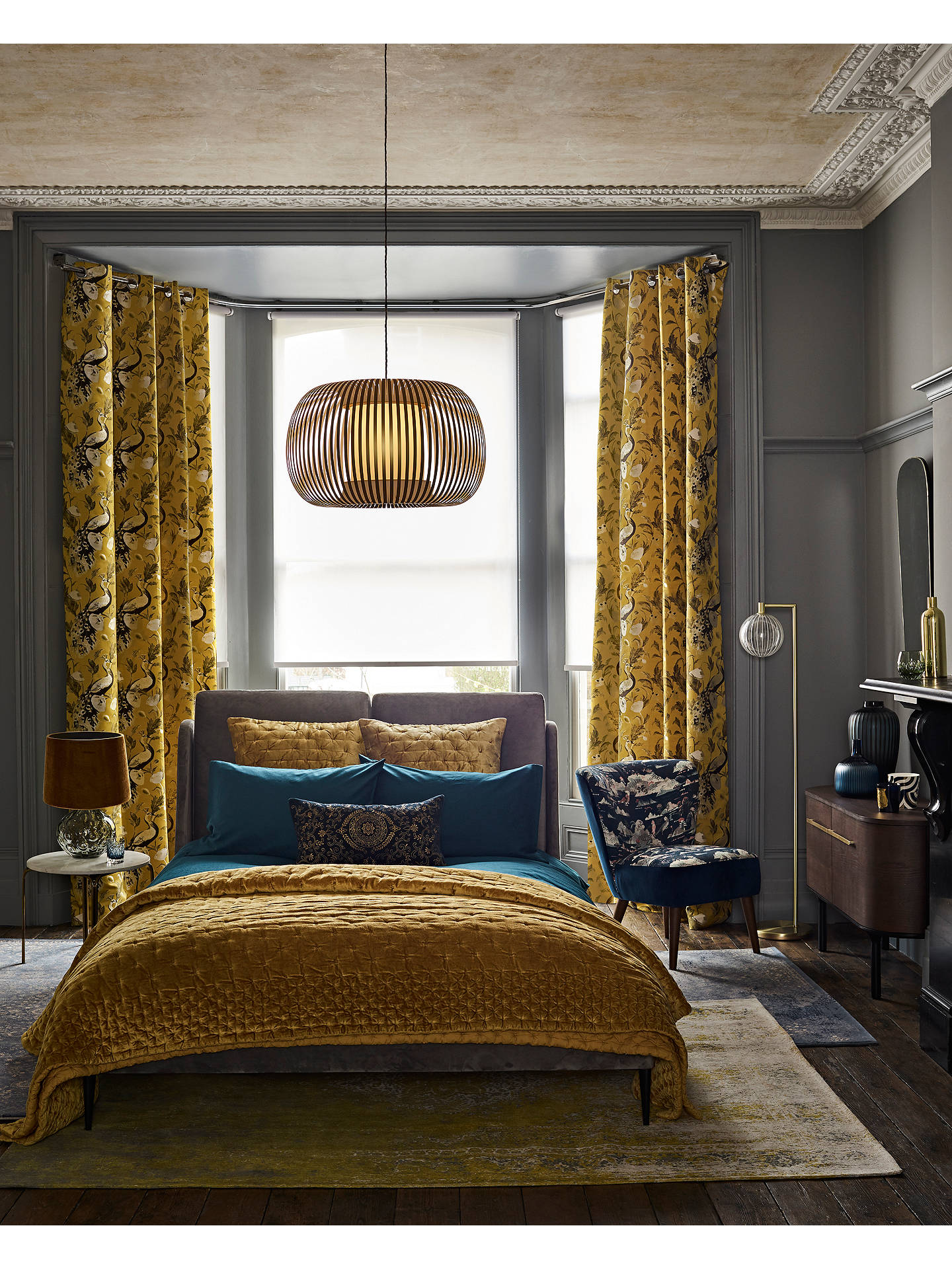 BuyJohn Lewis & Partners Giorgio Fabric Bed Frame, Double, Grey Online at johnlewis.com