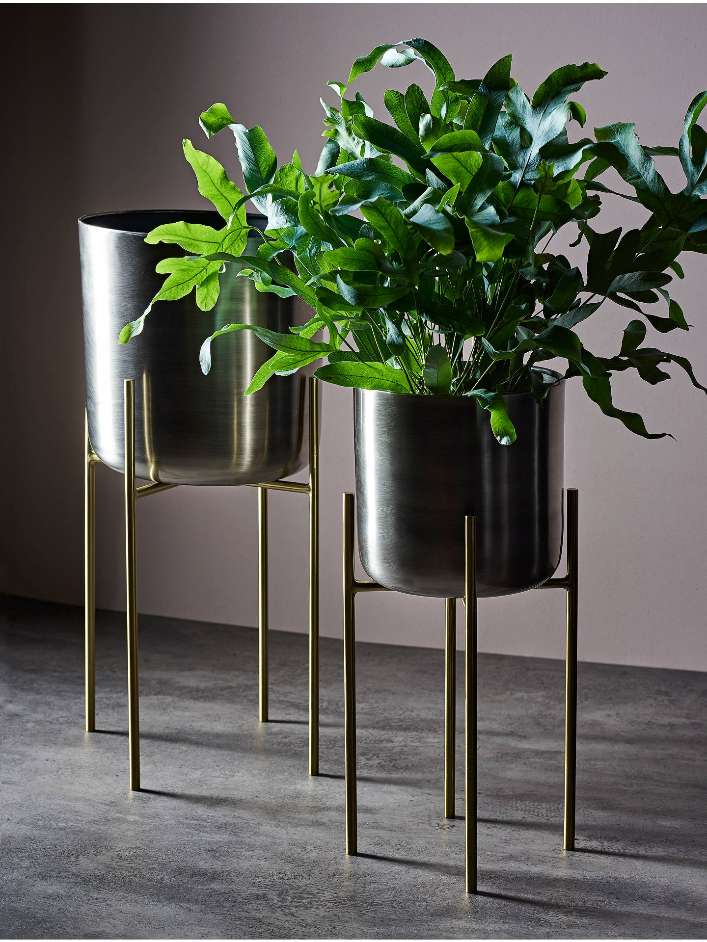 Silver Plant Stand