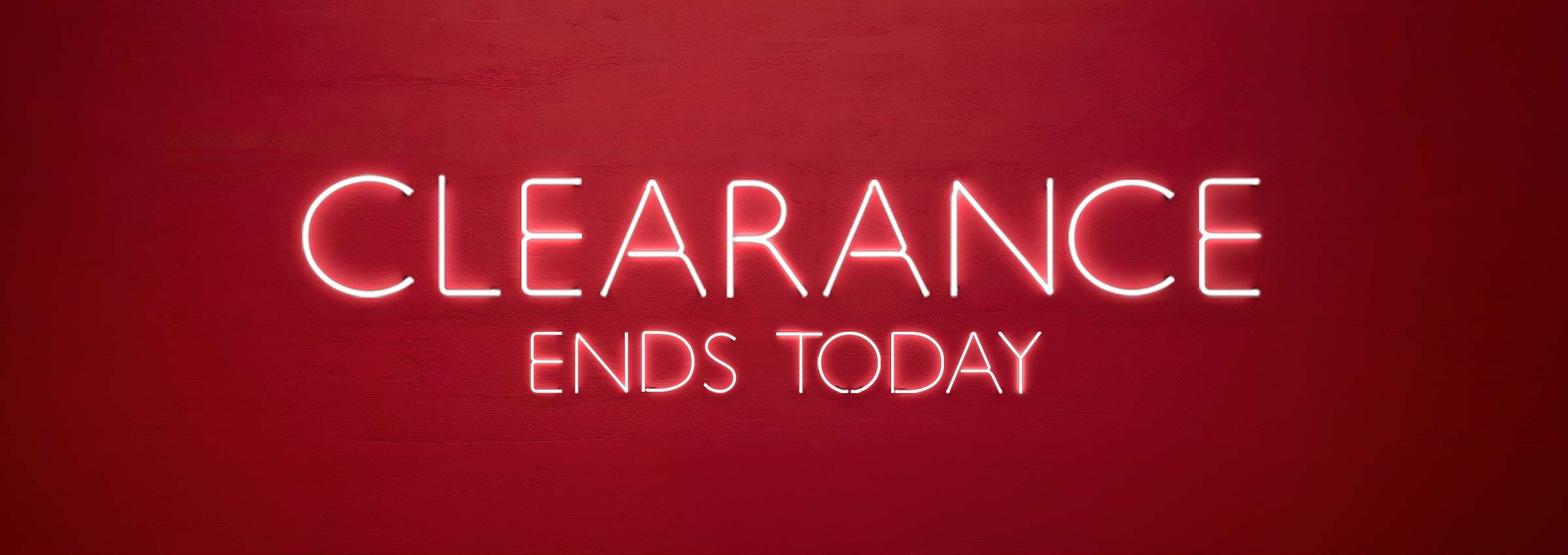 Clearance Ends Sunday