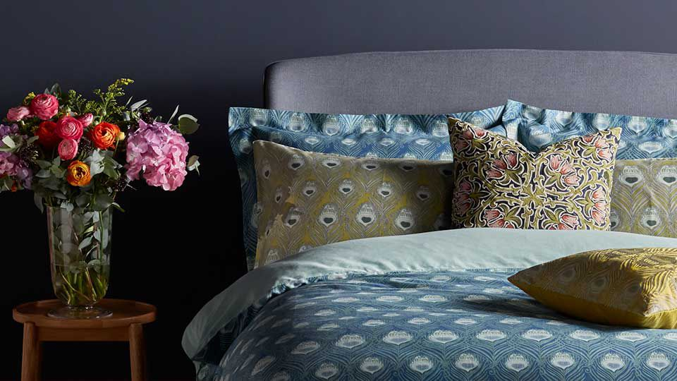 Bedsheets with Liberty Fabric print