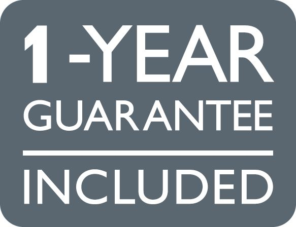 1-year guarantee included