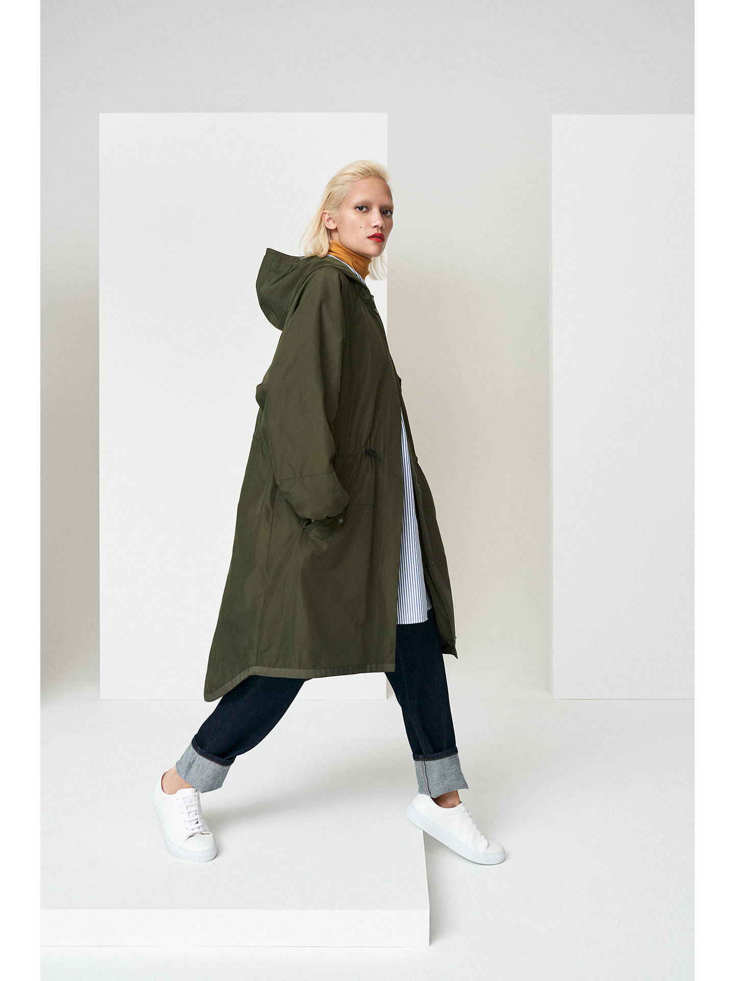 Kin Longline Parka Coat, Khaki at John