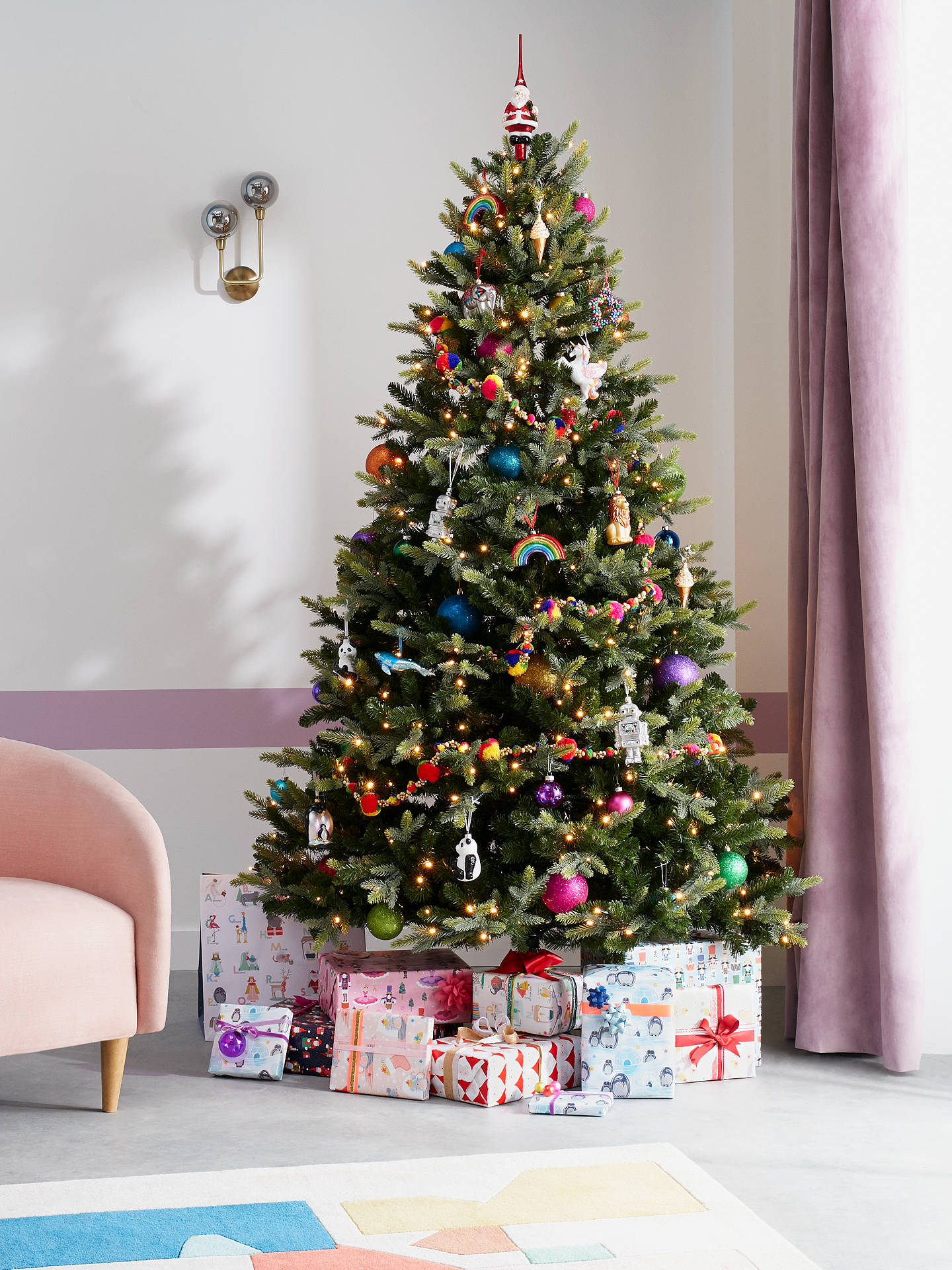 John Lewis Christmas Tree.John Lewis Partners Belgravia Pre Lit Christmas Tree 7ft
