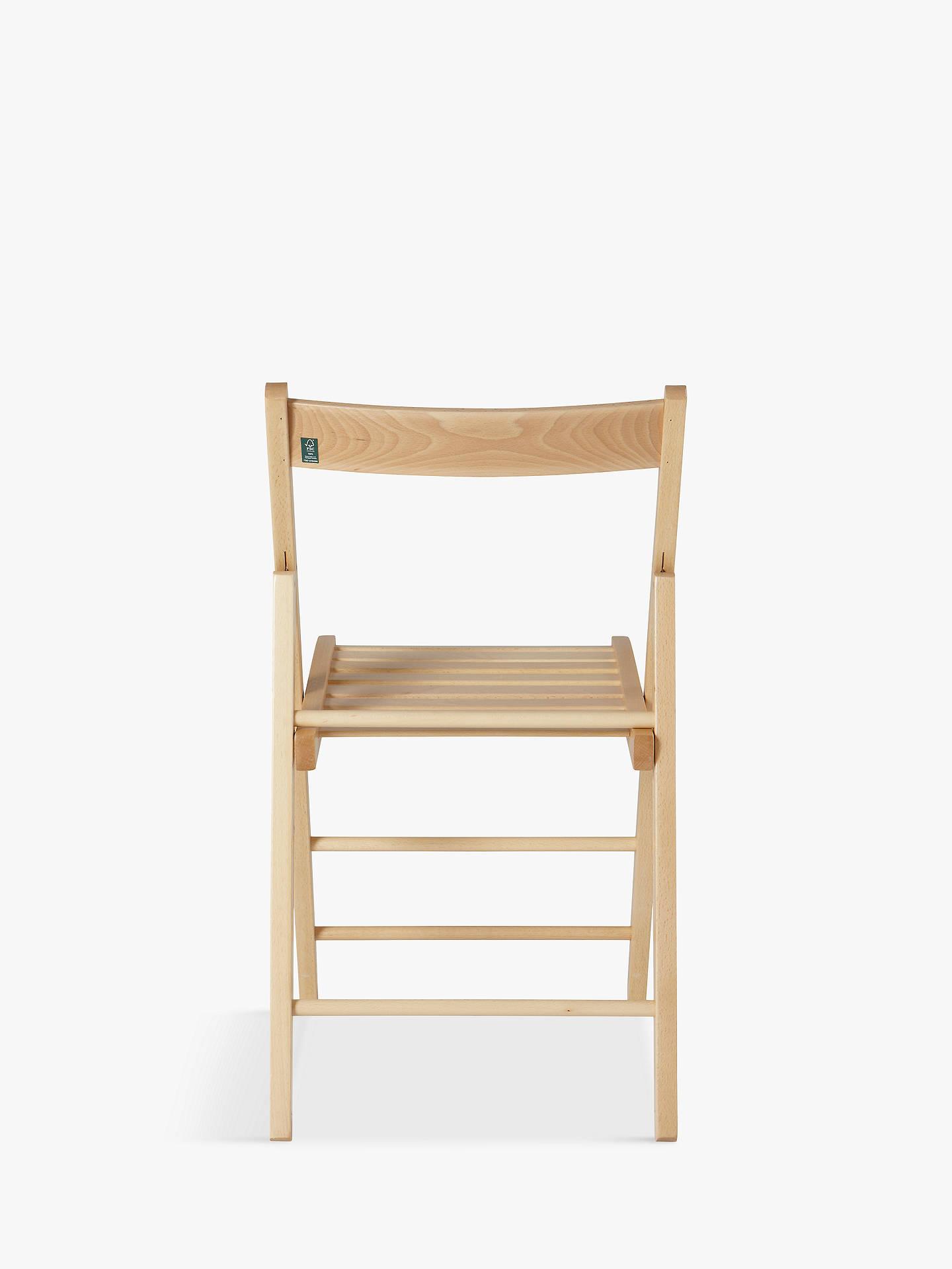 House By John Lewis Buiani Folding Chair Fsc Certified Beech Natural