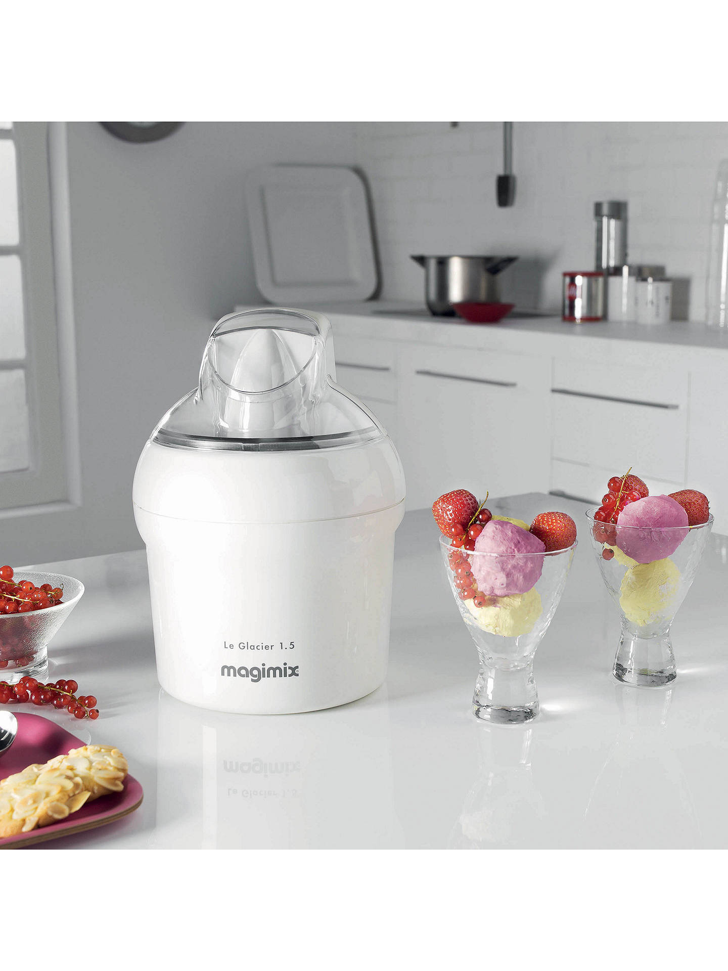Buy Magimix Ice Cream Maker, 11047 Le Glacier 1.1, White Online at johnlewis.com