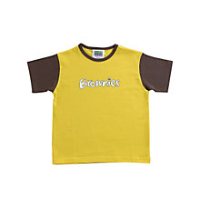 Buy Brownies Uniform Short Sleeve T-shirt, Yellow/Brown Online at johnlewis.com