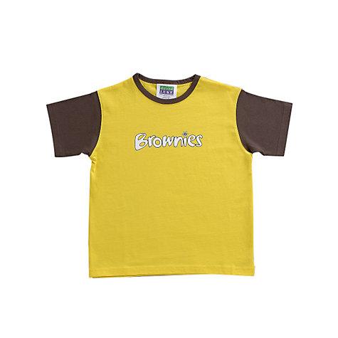 Buy Brownies Uniform Short Sleeve T-shirt, Yellow/Brown | John Lewis