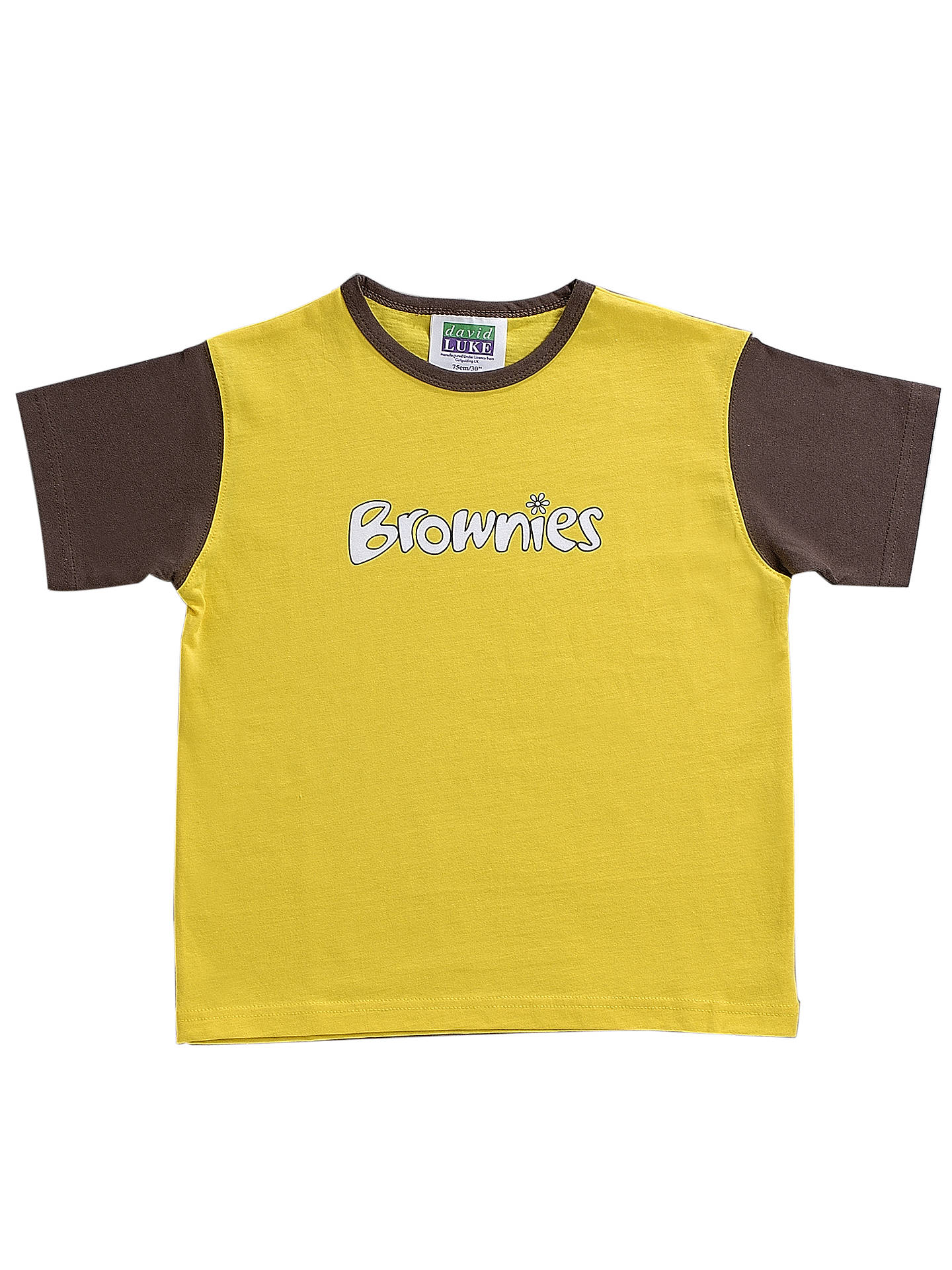 ef050d687 Buy Brownies Uniform Short Sleeve T-shirt, Yellow/Brown, Chest 26
