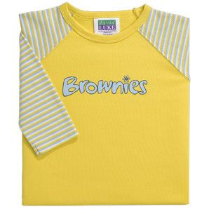 Brownies Brownies Uniform Long Sleeve T-shirt, Yellow