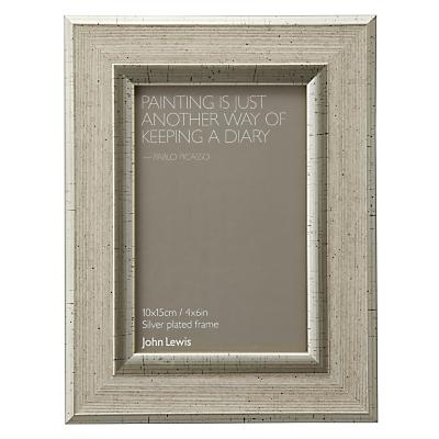 John Lewis Champagne Linen-Effect Photo Frame, 4 x 6 (10 x 15cm)