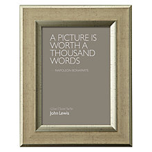 "Buy John Lewis Champagne Linen-Effect Photo Frame, 5 x 7"" (13 x 18cm) Online at johnlewis.com"