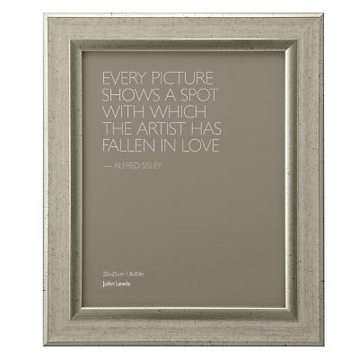 John Lewis Champagne Linen-Effect Photo Frame, 8 x 10 (20 x 25cm)