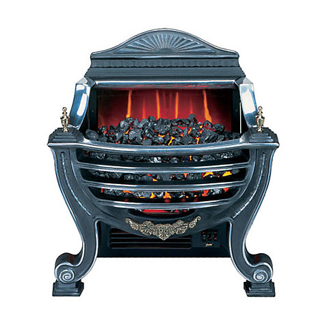 Buy Burley Fuel-Effect Electric Fire, Stamford 227, Silver Online at johnlewis.com