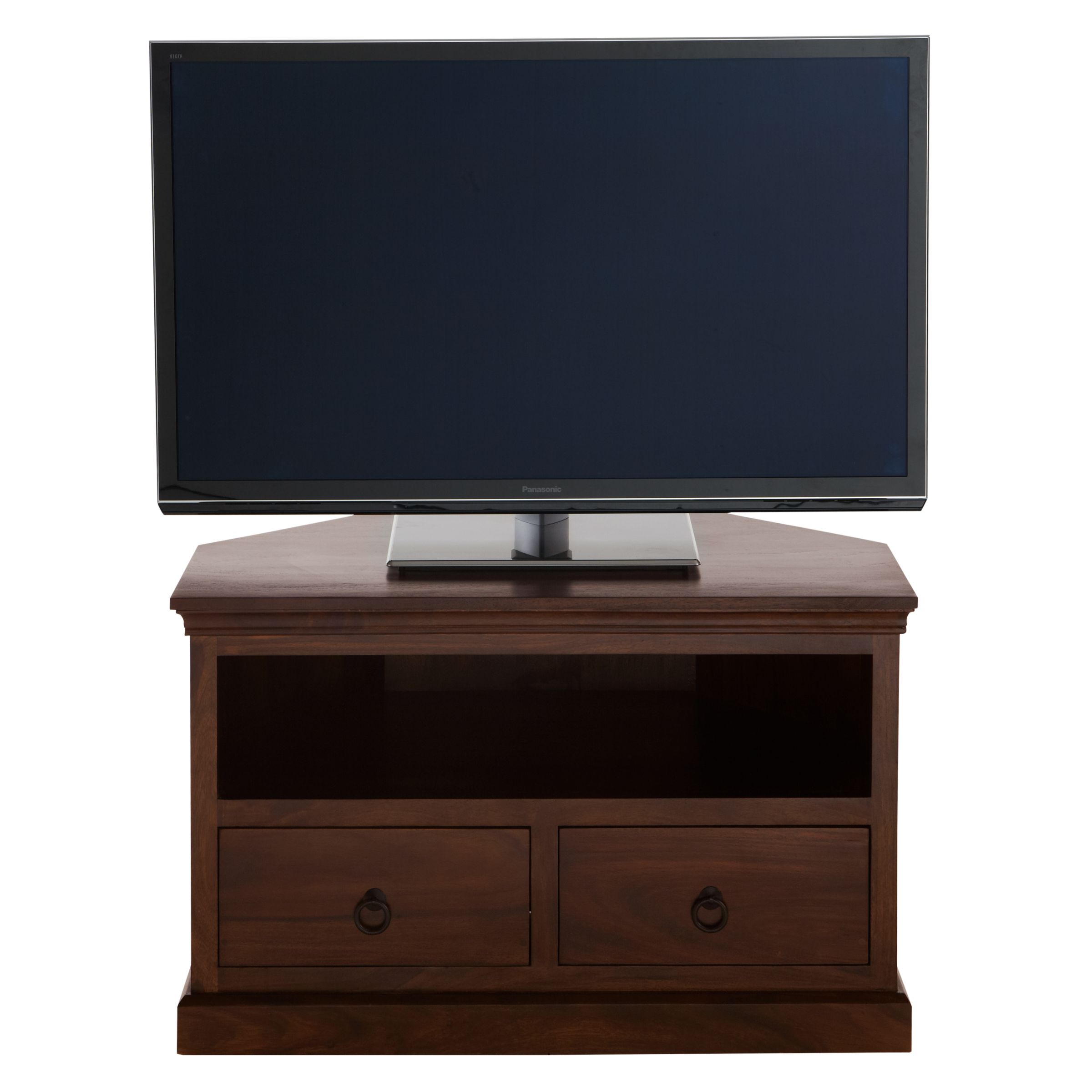 John Lewis Partners Maharani Corner Tv Stand For Tvs Up To