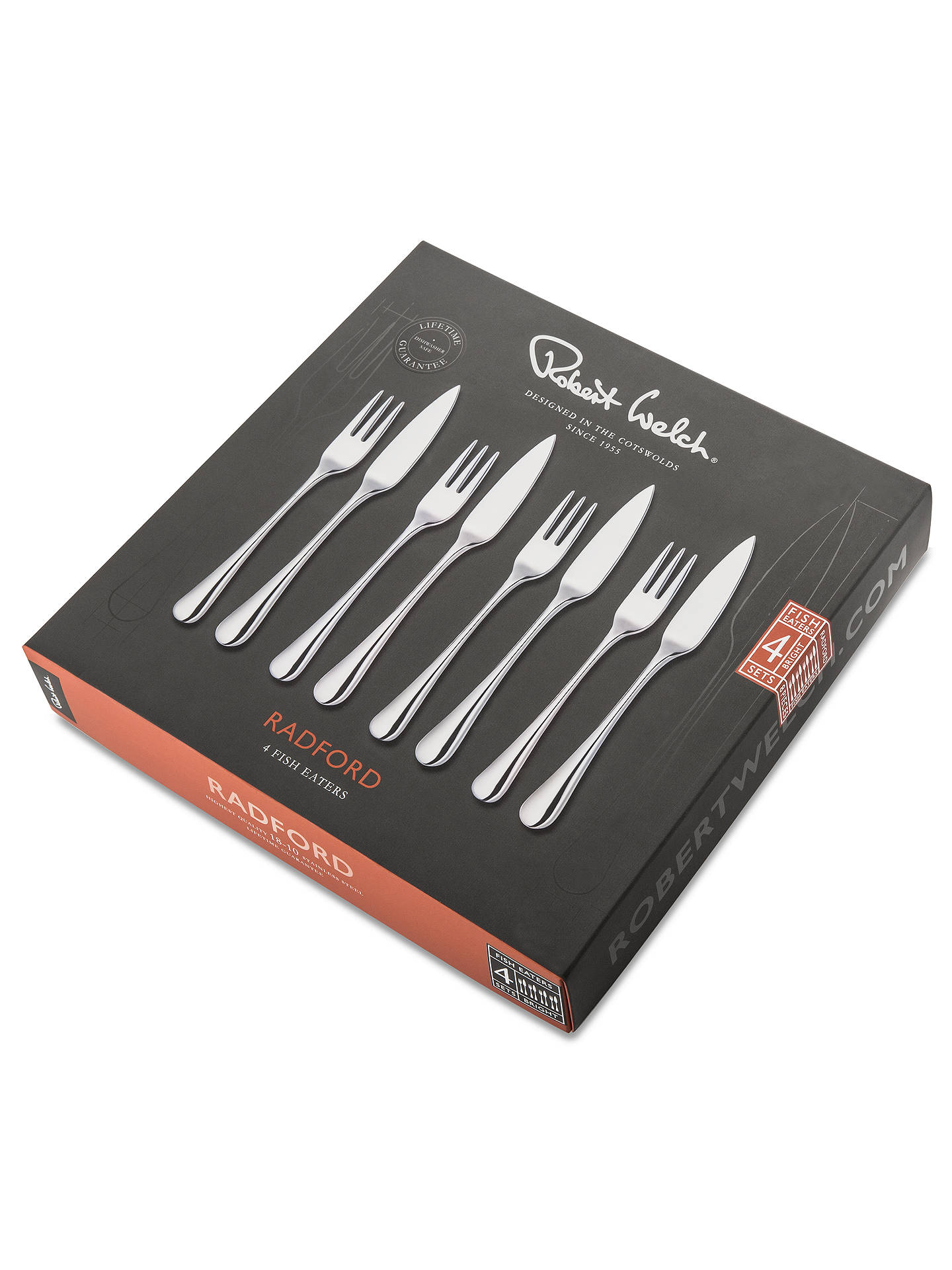 BuyRobert Welch Radford Fish Eaters Forks and Knives, 8 Piece Online at johnlewis.com