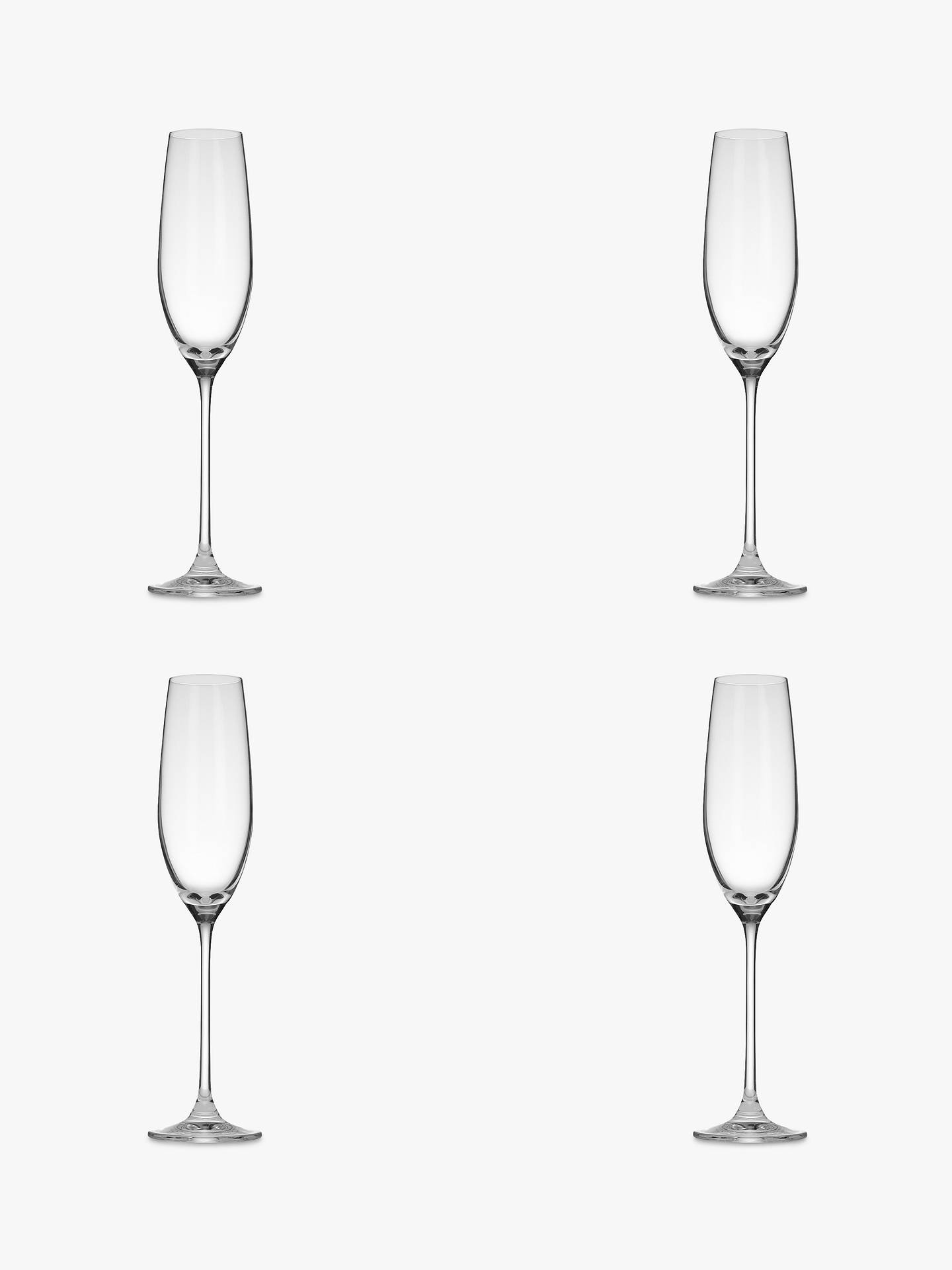 f26b8a1c7a3 Buy John Lewis & Partners Vino Champagne Flutes, Set of 4, 200ml Online at  ...