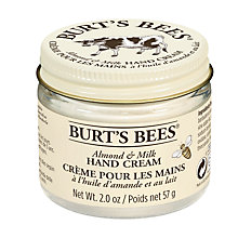 Buy Burt's Bees Almond Milk Beeswax Hand Creme, 57g Online at johnlewis.com