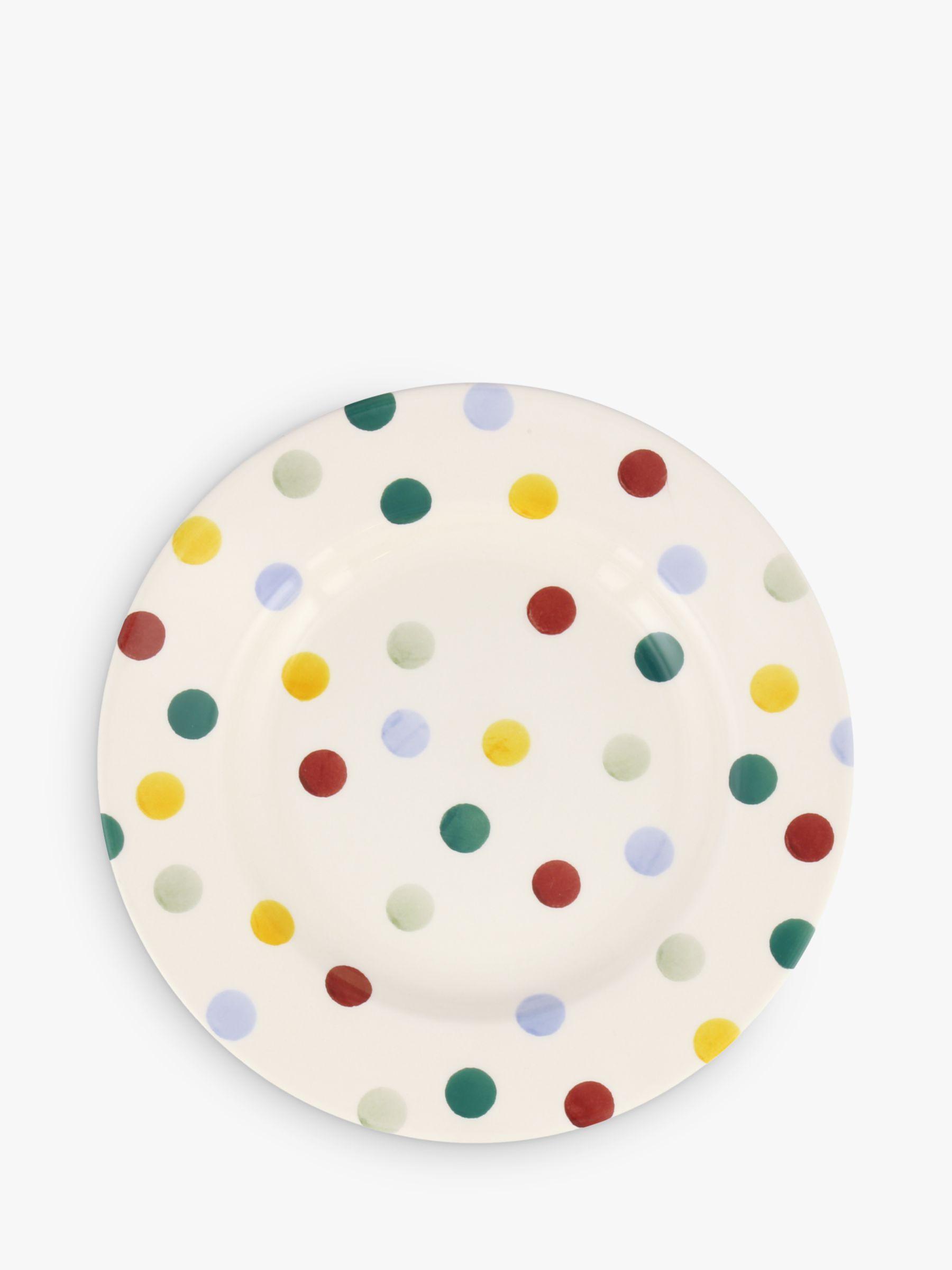 Emma Bridgewater Emma Bridgewater Polka Dot Plate, Multi, Dia.21.5cm