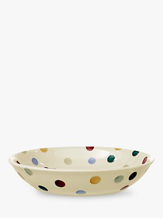 Emma Bridgewater Polka Dot Medium Pasta Bowl, Multi, Dia.23.5cm