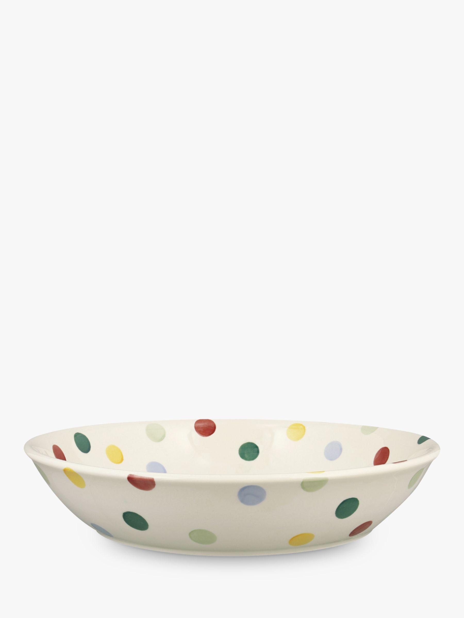 Emma Bridgewater Emma Bridgewater Polka Dot Medium Pasta Bowl, Multi, Dia.23.5cm