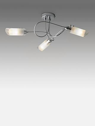 John Lewis & Partners Limbo Semi Flush 3 Arm Ceiling Light, Chrome