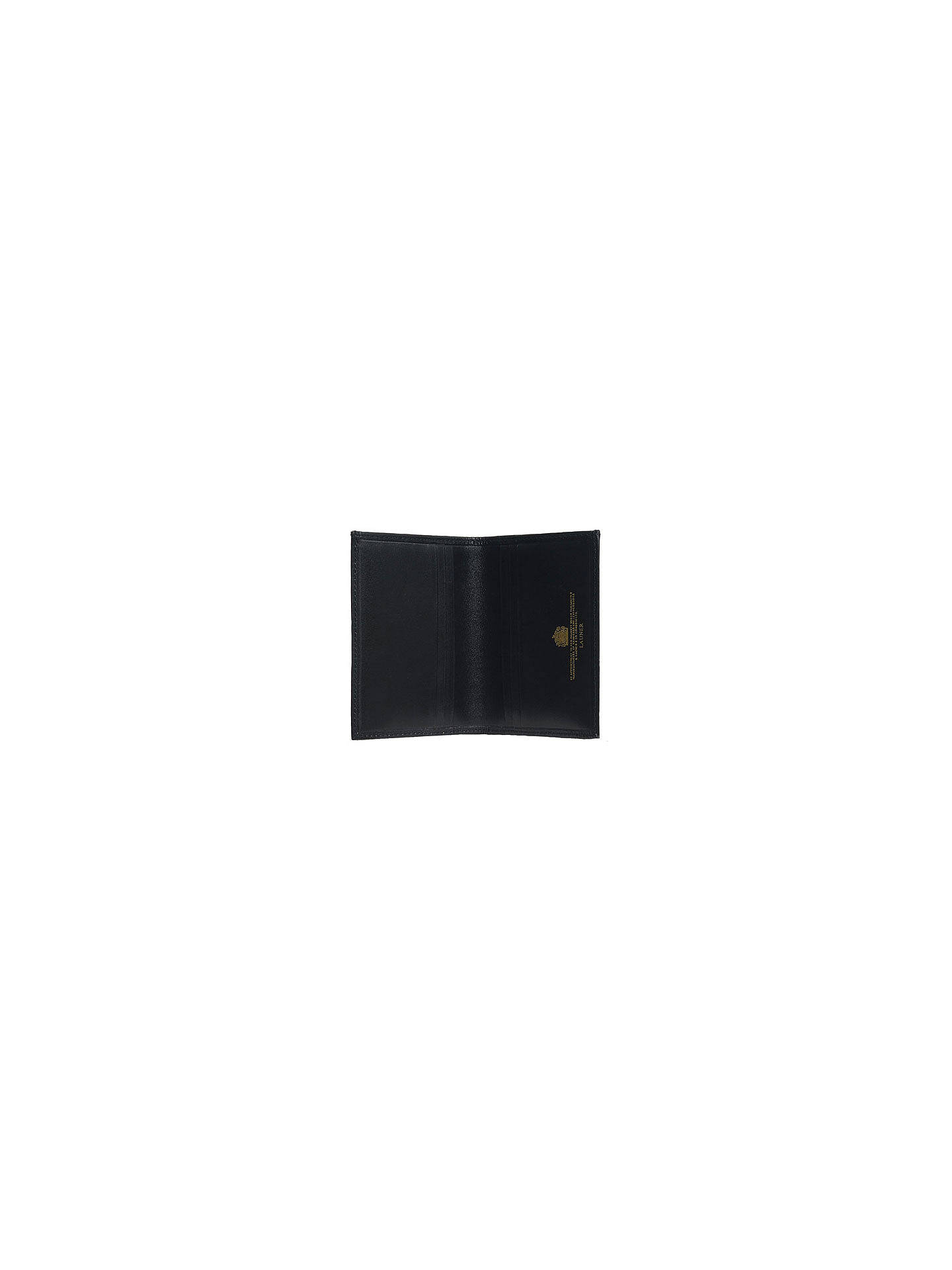 timeless design f4b5c b8d2f Launer Premium Leather Card Case, Black at John Lewis & Partners