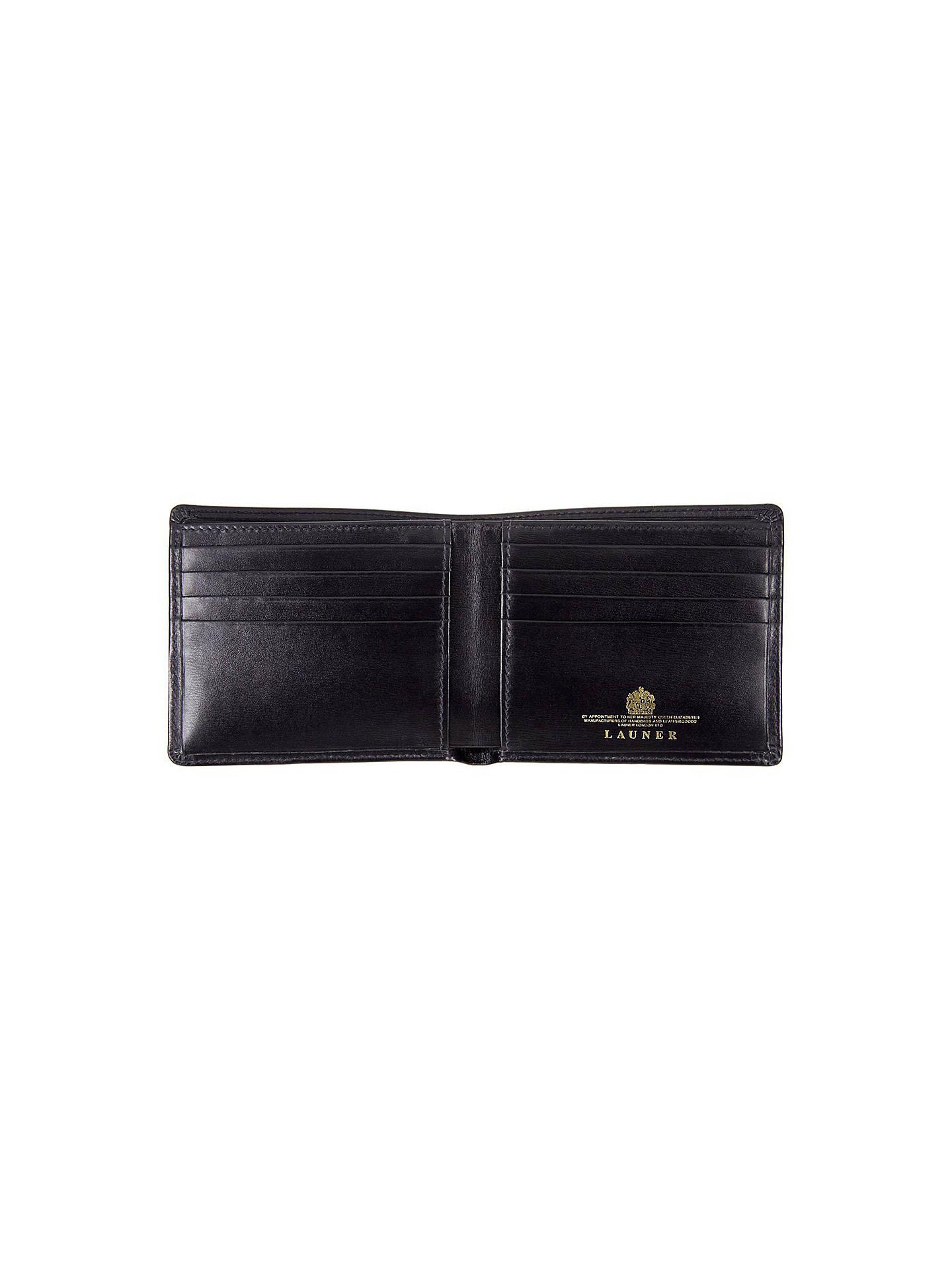 newest 0b8d8 f5f24 Launer Made in England Premium Leather Bi-Fold Wallet, Black at John ...