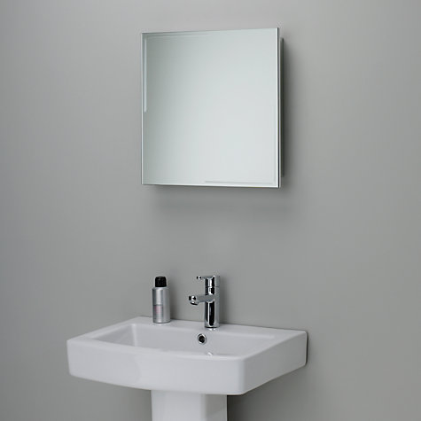buy john lewis ice single mirrored bathroom cabinet online at johnlewiscom - Bathroom Cabinets John Lewis