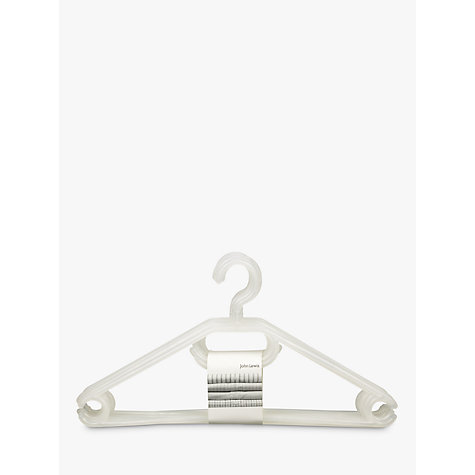 Buy John Lewis The Basics Plastic Hangers, Pack of 6 Online at johnlewis.com