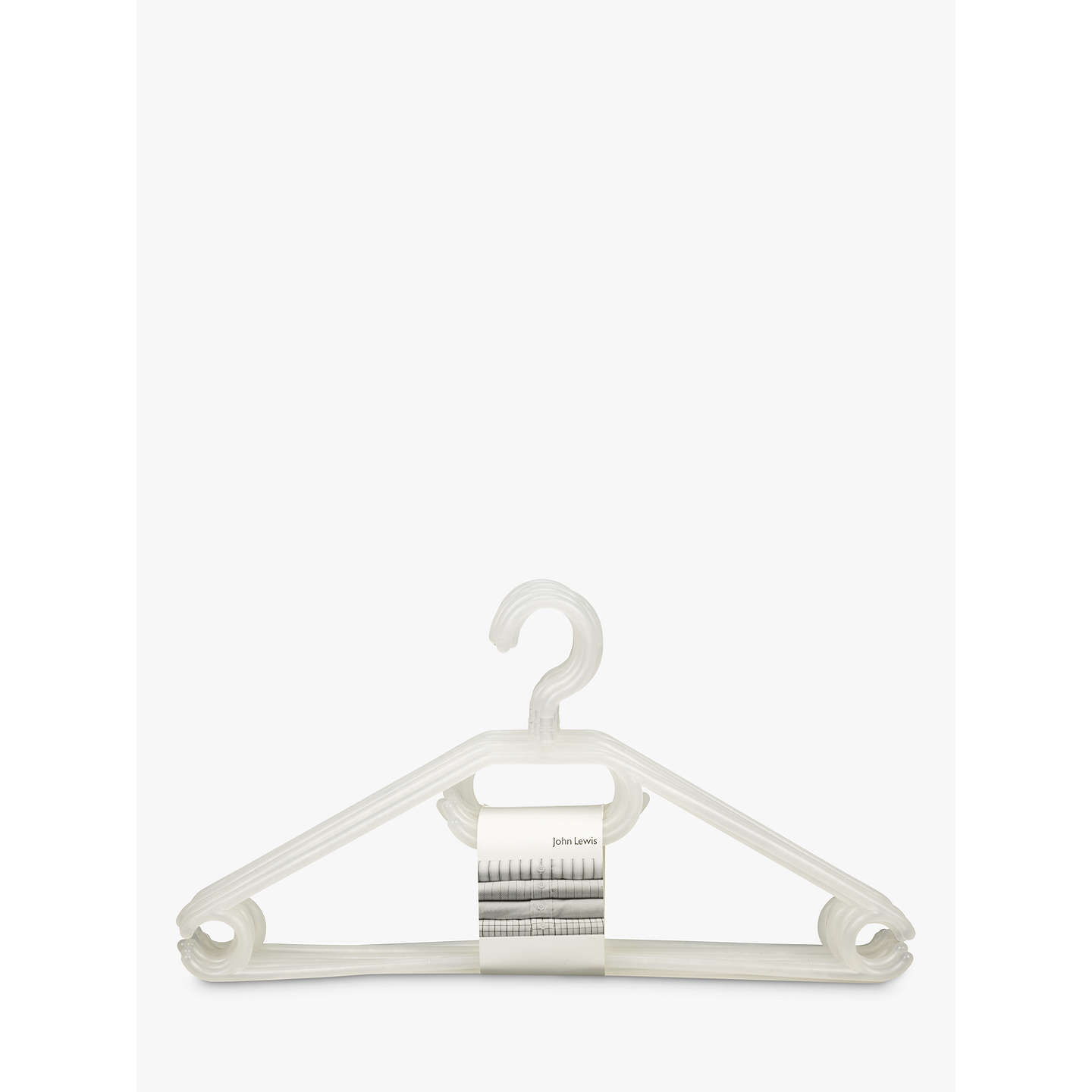 BuyJohn Lewis Plastic Hangers, Pack of 6 Online at johnlewis.com