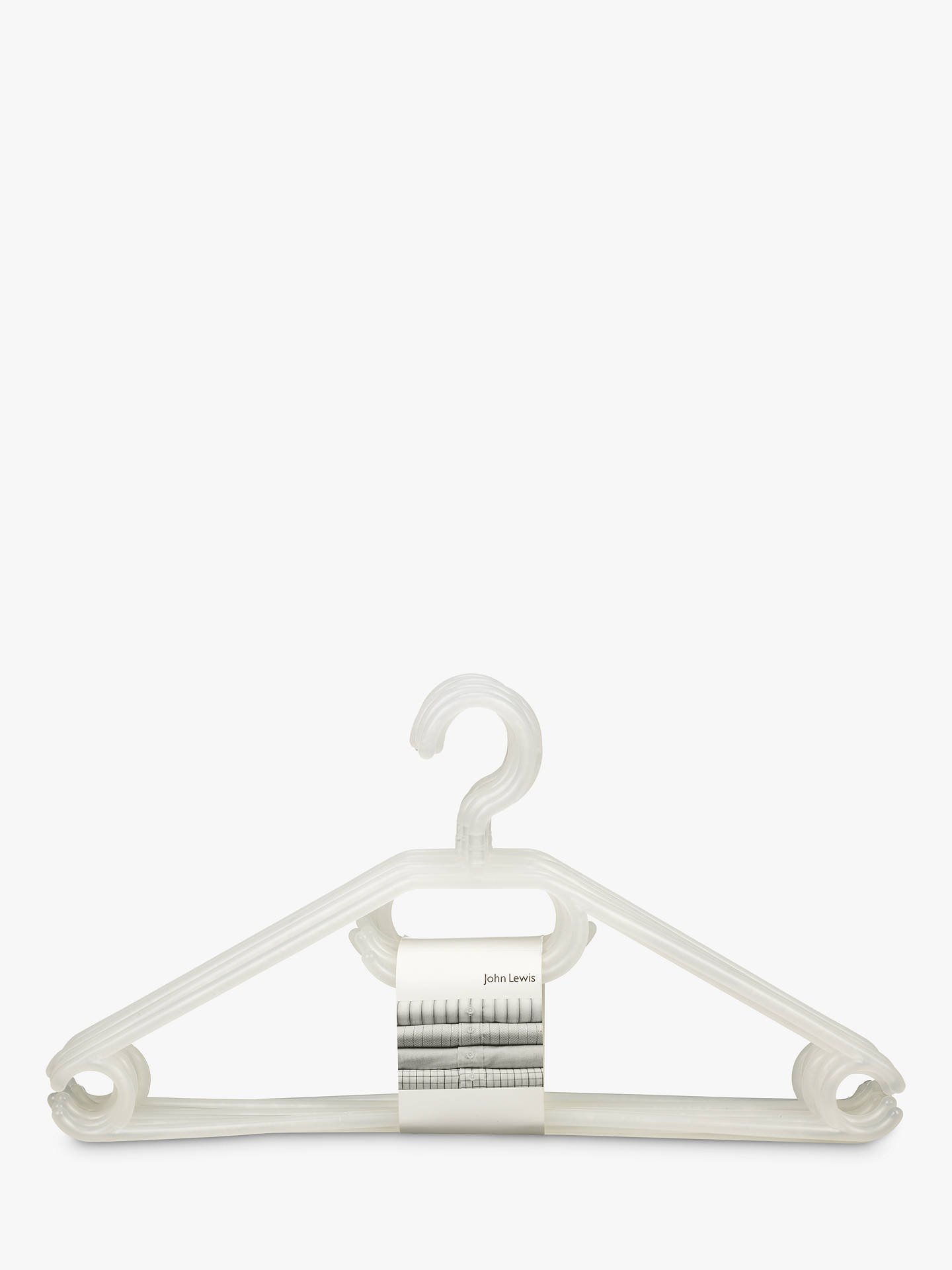 BuyJohn Lewis & Partners Plastic Hangers, Pack of 6 Online at johnlewis.com