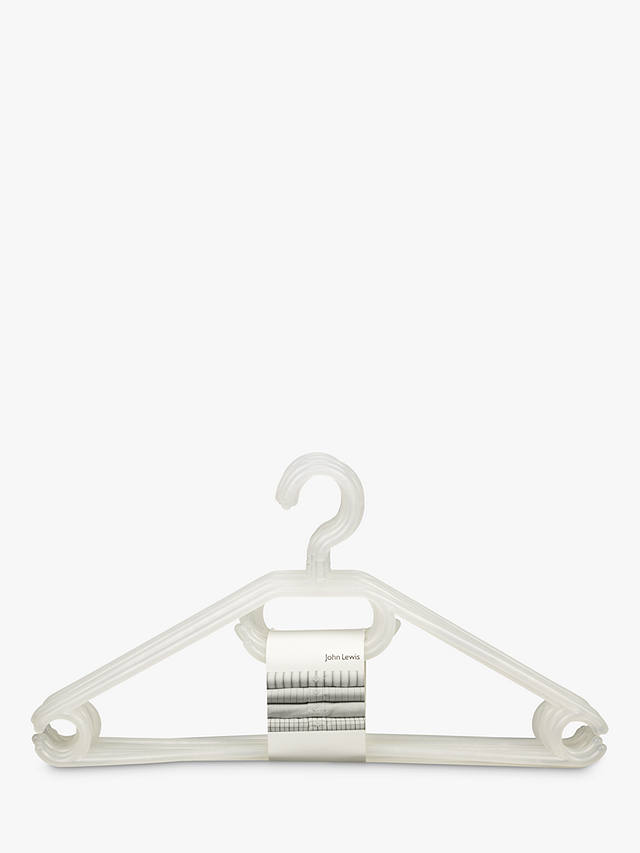 Buy John Lewis & Partners Plastic Hangers, Pack of 6 Online at johnlewis.com