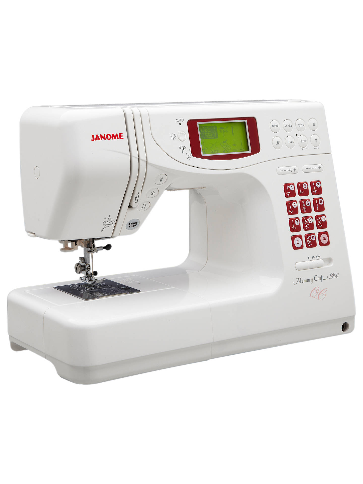 Buy Janome Memory Craft 5900QC Sewing Machine Online at johnlewis.com
