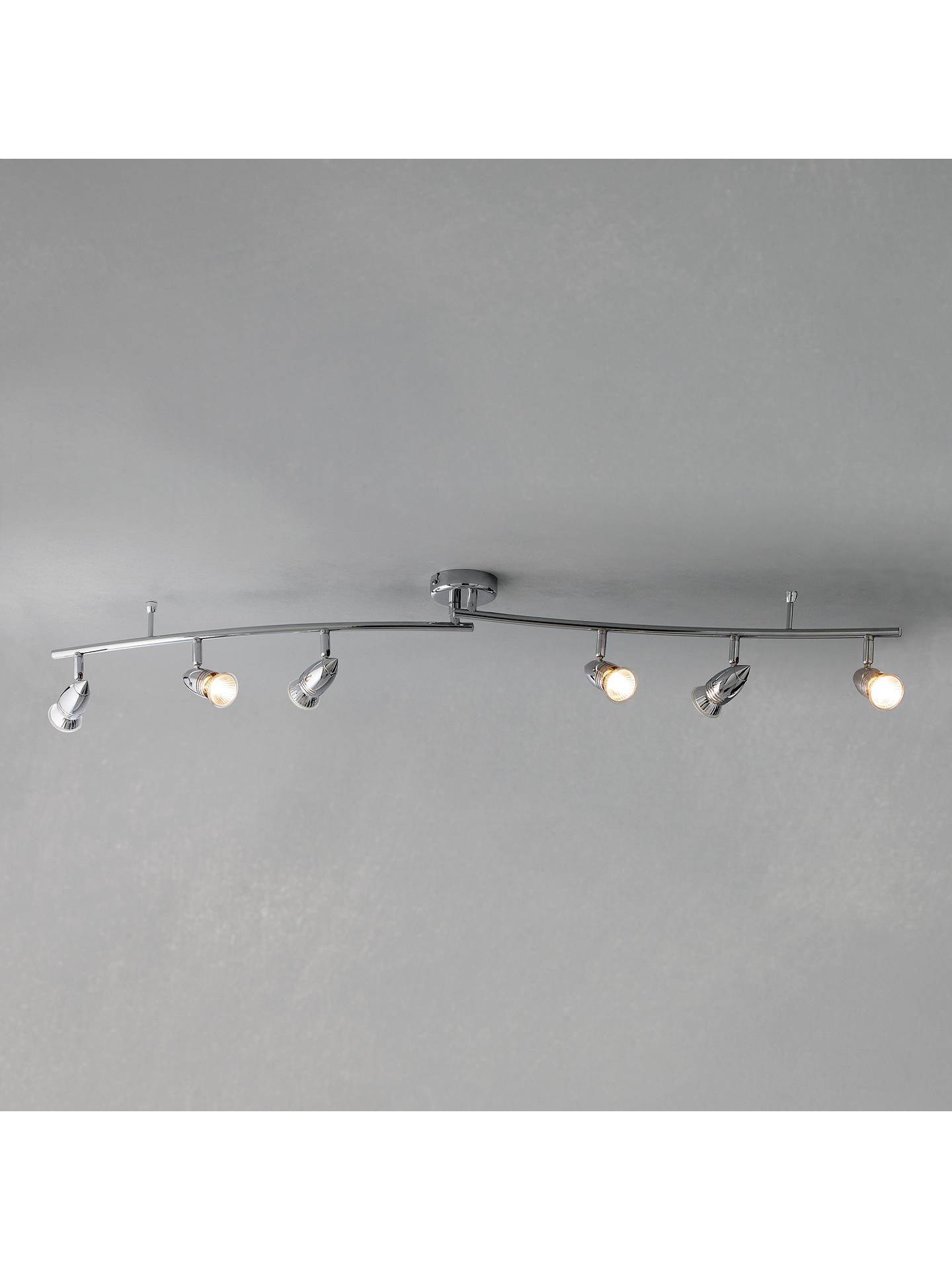 Buy John Lewis Soyuz 6 Halogen Spotlight Ceiling Bar, Polished Steel Online at johnlewis.com