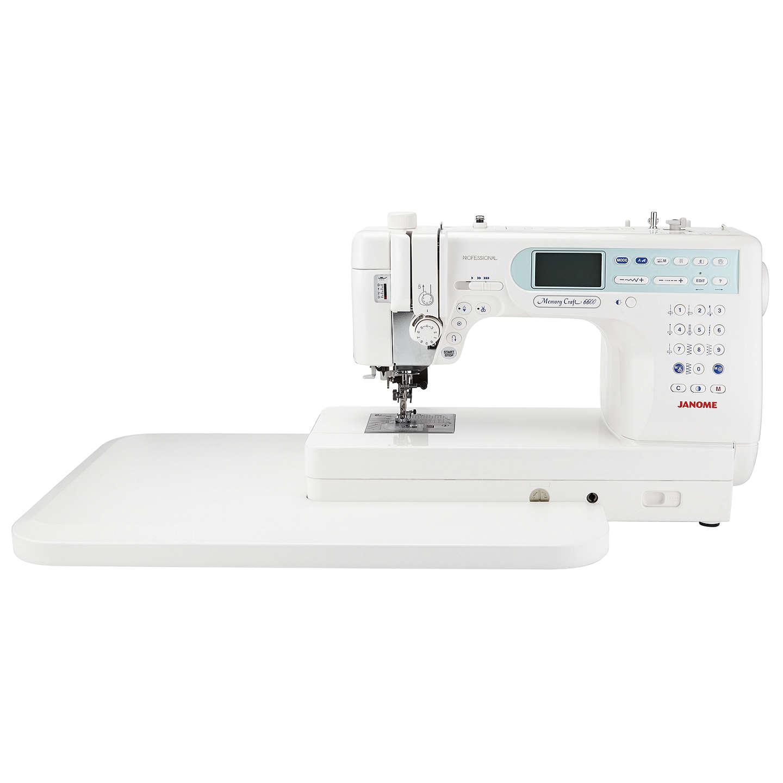 Janome memory craft 6600p sewing machine at john lewis for Janome memory craft 6600p