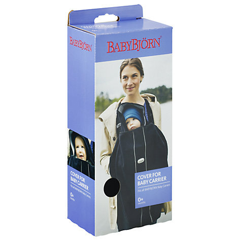 Buy BabyBjörn Cover for Baby Carrier, City Black Online at johnlewis.com